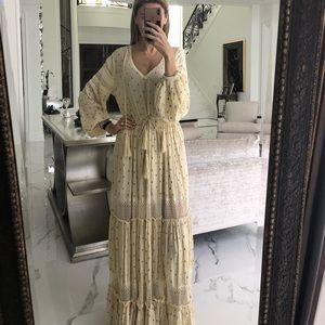 Free people, S, maxi lace dress, boho